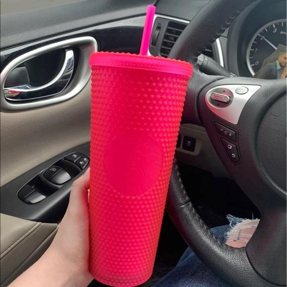 NEW 2021 Pink Studded Starbucks Tumbler